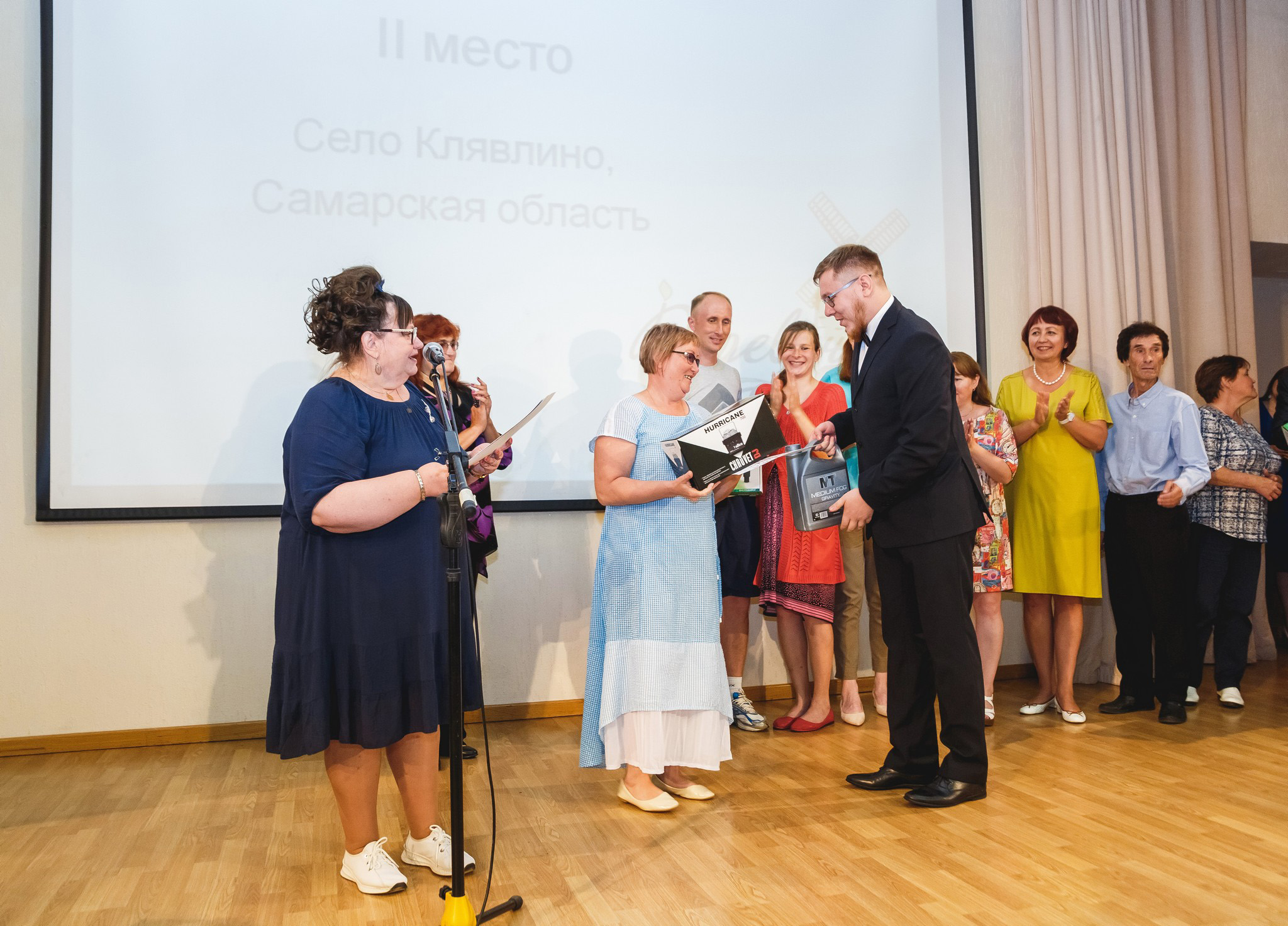 Награждение с.п.Клявлино за 2-е место в номинации «Самая спортивная территория» на конкурсе «Деревенька моя»