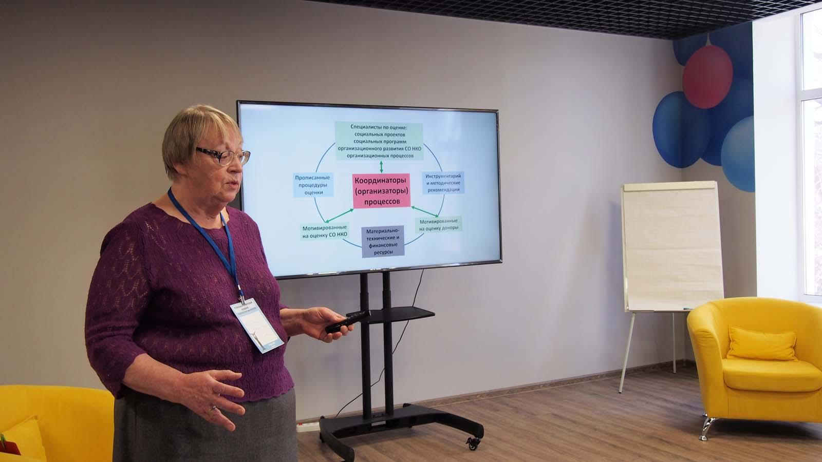 Региональная конференция оценщиков социальных проектов и программ: В.И.Пестрикова рассказывает о проекте